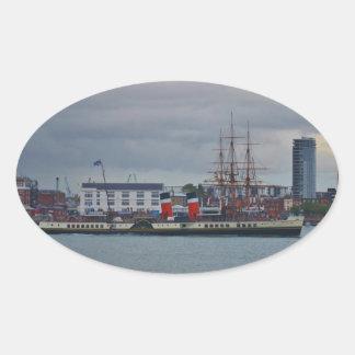 Paddle Steamer Waverley Oval Sticker