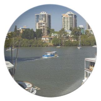 Paddle Steamers, Brisbane River, Brisbane, Melamine Plate