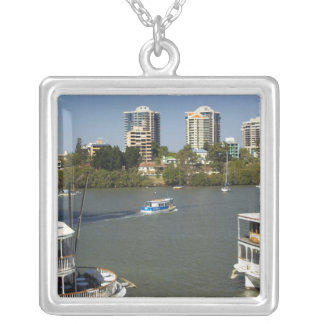 Paddle Steamers, Brisbane River, Brisbane, Silver Plated Necklace