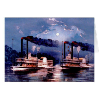 Paddle steamers in midnight race card