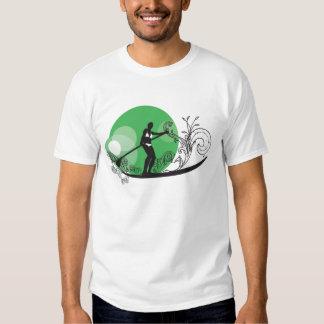 Paddle Surf Girls Green T-shirts
