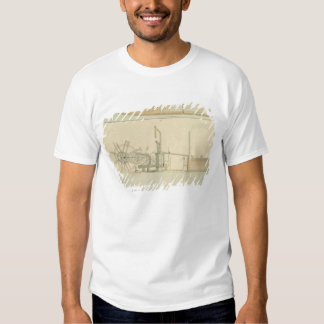 Paddle-wheel, perspective view of machinery drawn t shirt
