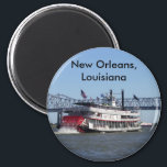 """Paddle Wheeler Magnet<br><div class=""""desc"""">Choose the exact product,  the color of the wording and the font.  Add or remove words.  Personalize it!</div>"""