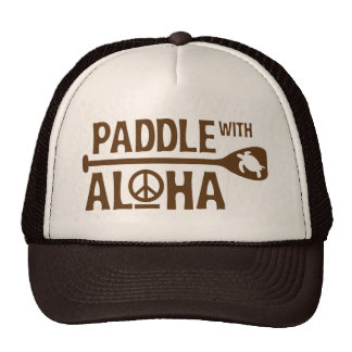 Paddle with Aloha Brown Trucker Hat