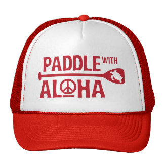 Paddle with Aloha Red Trucker Hat