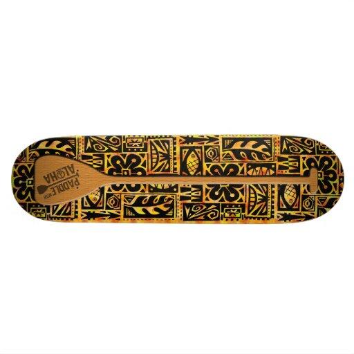 Paddle with Aloha Skateboard