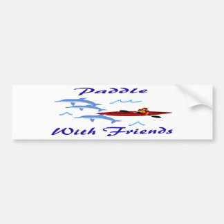 Paddle With Friends Bumper Sticker
