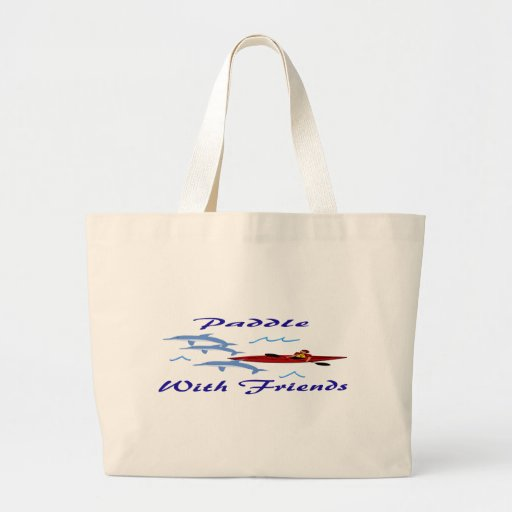 Paddle With Friends Large Tote Bag