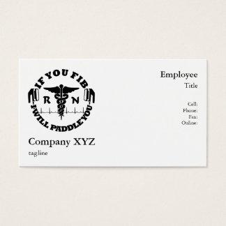 Paddle You Shock You Nurse Afib Business Card