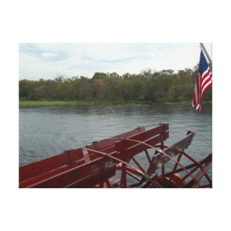 Paddleboat on the St. John's River, Florida 2014 Canvas Print
