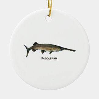 Paddlefish Adorno Navideño Redondo De Cerámica