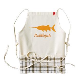 Paddlefish Delantal Zazzle HEART