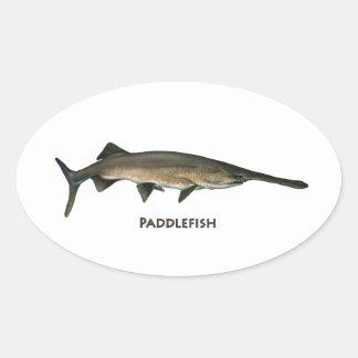 Paddlefish Pegatina Ovalada