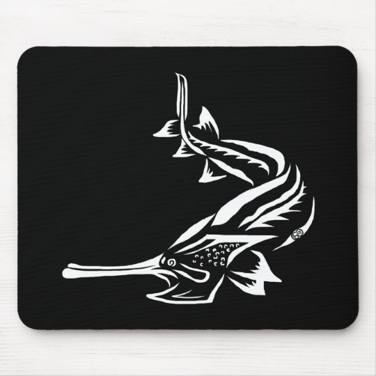 Paddlefish & Rostrum Design Mouse Pad
