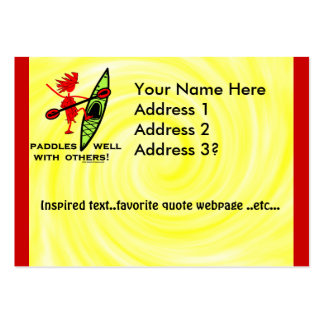 Paddles Well With Other Large Business Cards (Pack Of 100)