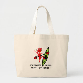 Paddles Well With Other Large Tote Bag