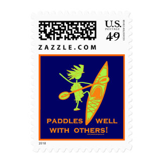 Paddles Well With Other Stamp