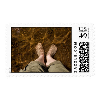 Paddling at the Beach Postage