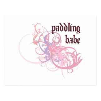 Paddling Babe Postcard