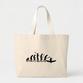 Paddling Evolution (OC1) Large Tote Bag