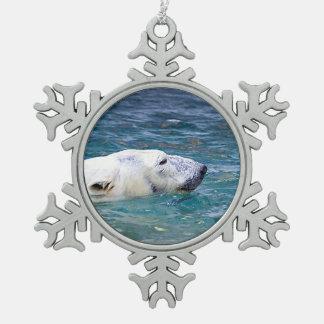 Paddling Polar Bear Ornament