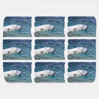 Paddling Polar Bear Receiving Blanket