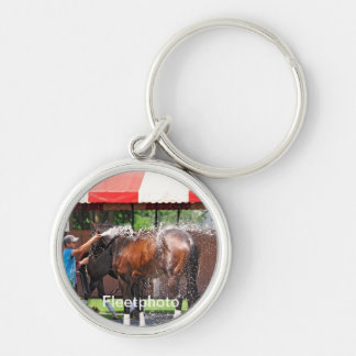 Paddock Play Silver-Colored Round Keychain