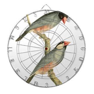 Paddy bird Rice bird or Java Sparrow Bird Illust Dart Board