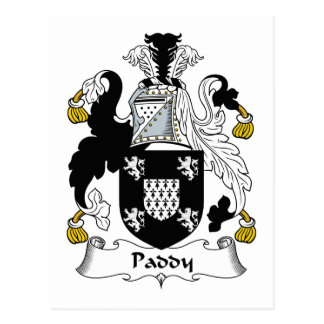 Paddy Family Crest Post Card