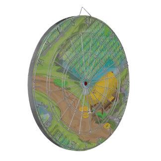 Paddy field dart board