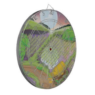 Paddy field dartboard