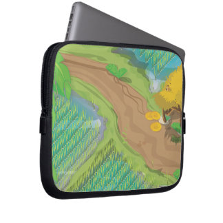 Paddy field laptop computer sleeves
