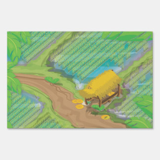 Paddy field lawn sign