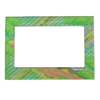Paddy field magnetic frame