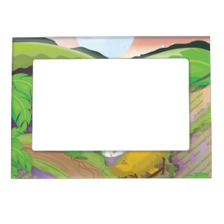 Paddy field magnetic picture frame