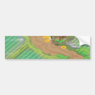 Paddy field of the far east bumper sticker