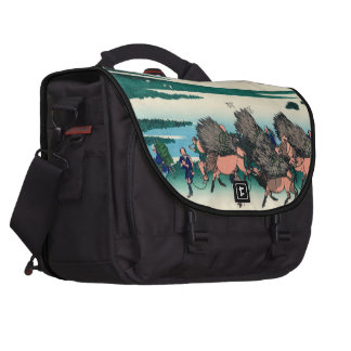 Paddy fields in Ono, Suruga Province Bag For Laptop