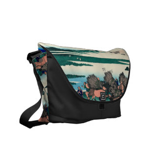 Paddy fields in Ono, Suruga Province Messenger Bag