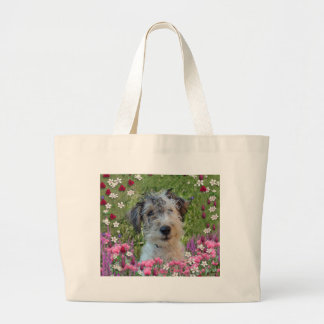 Paddy in Flowers Large Tote Bag