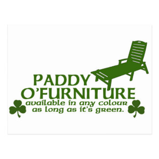 Paddy O Furniture - Funny Irish Design -St Patrick Postcard