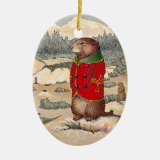 Paddy Paws in Prairie Dog Town Christmas Ornament