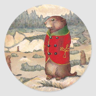 Paddy Paws in Prairie Dog Town Classic Round Sticker
