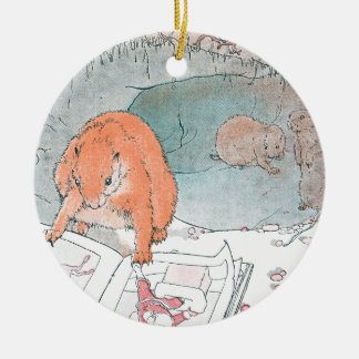 Paddy Paws Reads a Picture Book Ceramic Ornament