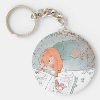 Paddy Paws Reads a Picture Book Basic Round Button Keychain