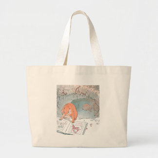 Paddy Paws Reads a Picture Book Large Tote Bag