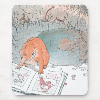 Paddy Paws Reads a Picture Book Mouse Pad