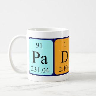 Paddy periodic table name mug