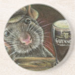 Paddy the rat drink coaster