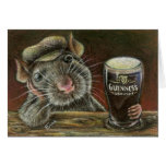 Paddy the rat greeting card
