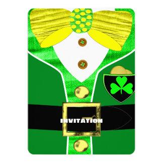 Paddy's Day Irish Leprechaun Personalized Invite